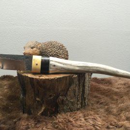 Petite dague buis, ébène et bois de cerf